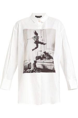 Persona by Marina Rinaldi Falesia Stretch-Poplin Shirt