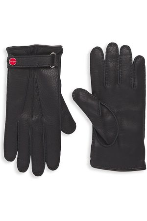 Kiton Cashmere-Lined Leather Gloves