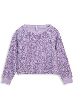 Splendid Girl's Twinkle Leopard-Print Sweatshirt