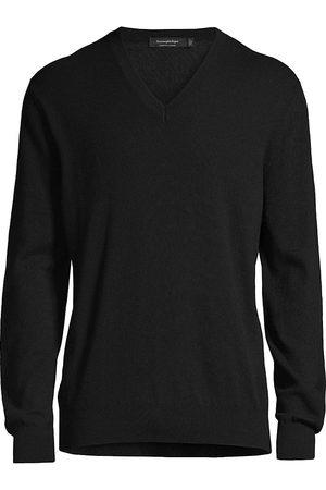 Ermenegildo Zegna Cashmere-Silk Blend V-Neck Sweater