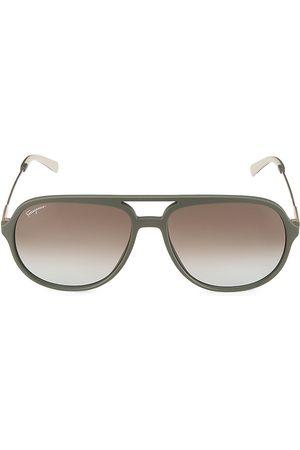 Salvatore Ferragamo 60MM Aviator Sunglasses