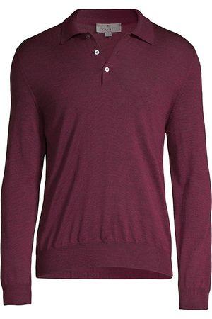 CANALI Long-Sleeve Wool Polo Shirt