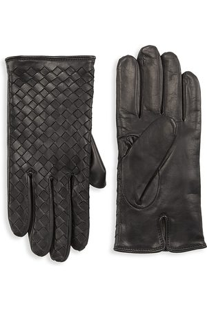 Saks Fifth Avenue COLLECTION Woven Nappa Leather Gloves