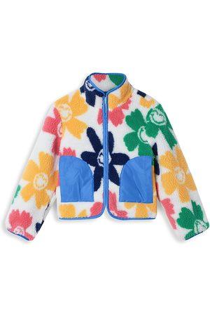 Stella McCartney Kids Little Girl's & Girl's Smiley Flowers Teddy fleece Jacket