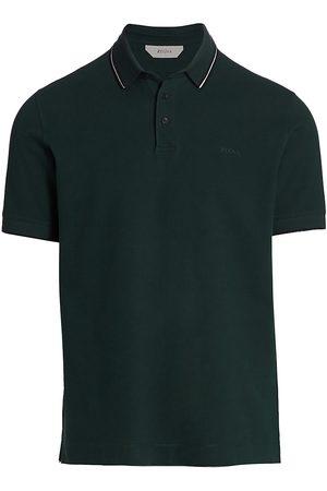 Z Zegna Cotton Piqu Polo Shirt