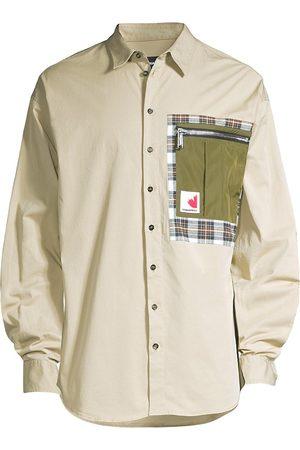 Dsquared2 Patch Drop Long-Sleeve Button-Down Shirt