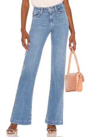 Paige Women High Waisted - Leenah Flare Jean in Blue.