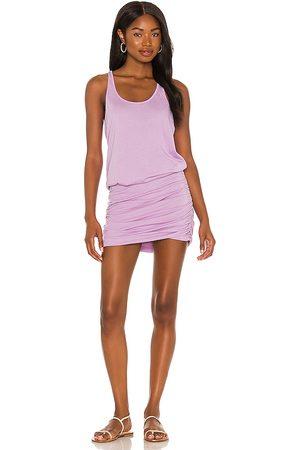 MICHAEL STARS Scoop Neck Racerback Dress in Lavender.