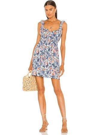 LINE & DOT Women Party Dresses - Sunday Tropical Mini Dress in Blue.
