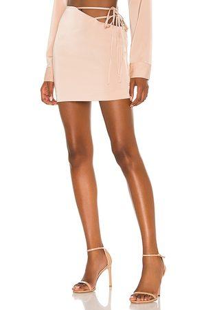 NBD Mirrorball Mini Skirt in Nude.