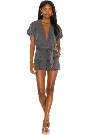 YFB CLOTHING Axel Romper in Charcoal.