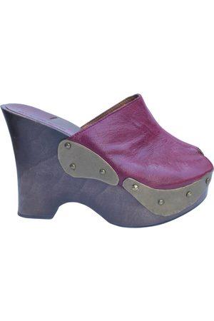 L'Autre Chose Leather mules & clogs