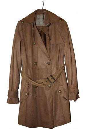 Pepe Jeans Women Trench Coats - Leather trench coat
