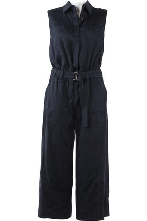 Vince Navy Linen Jumpsuits