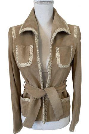 VALENTINO GARAVANI Women Gilets - Leather short vest