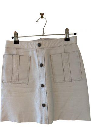 AJE Leather mini skirt