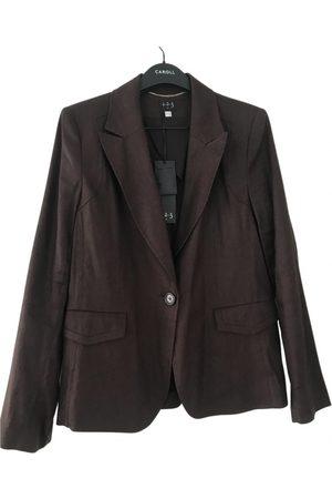 JUMPER 1234 Linen biker jacket