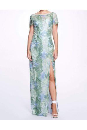 Marchesa Notte Mint Lace Guipure Gown