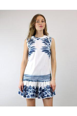 Agua de Coco Feather Sleeveless Mini Dress