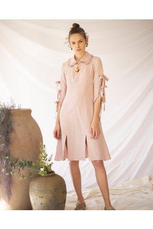 Loraine Holmes Blush Linum Midi Dress