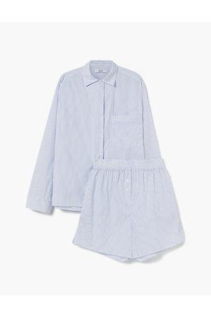 A LINE Women Pajamas - Serenity Stripes Pyjama Set