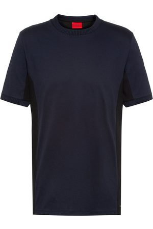 Hugo Mercerised Cotton T-Shirt Navy