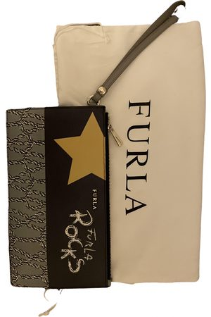Furla Grey Patent leather Clutch Bags