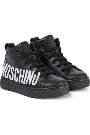 Moschino Sneakers - Logo leather sneakers