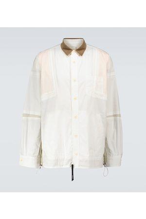 SACAI Cotton zipped overshirt