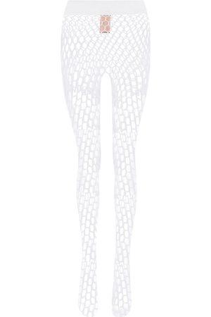Wolford X Amina Muaddi fishnet tights