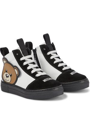 Moschino Kids Sneakers - Leather and suede sneakers