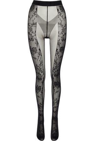 Wolford X Amina Muaddi lace-paneled tights