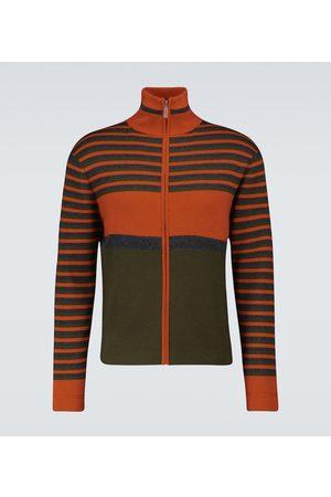 WALES BONNER Wool-blend zipped sweatshirt