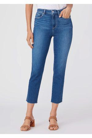 Paige Sarah Slim High Rise Straight Leg Crop Jean - Starcrossed