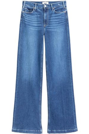 "Paige Denim Leenah High Rise Wide Leg 32"" Leg Jeans - Angelle"