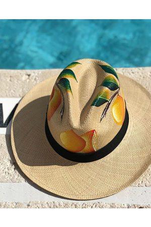 Nadia C Lemon Panama Hat