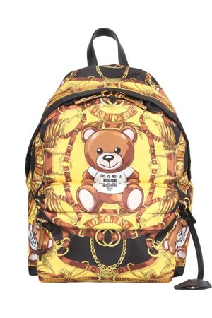 Moschino BACKPACK WITH TEDDY SCARF PRINT