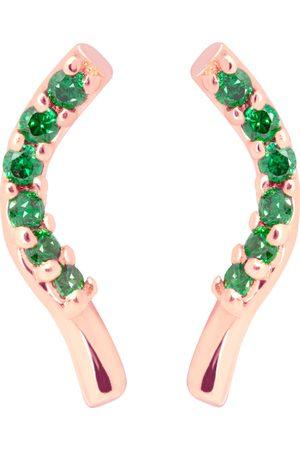 Tada & Toy Seaweed Studs - Rose /Green