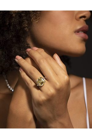 Fantasia By Deserio 12ct Canary Asscher Cut Ring