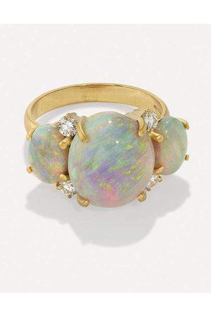 IRENE NEUWIRTH JEWELRY Gemmy Gem Three Stone Opal Ring