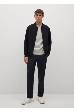 MANGO Slim-fit lyocell linen pants