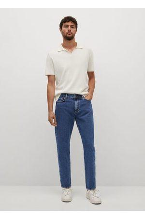 MANGO Ben tapered-fit dark-wash jeans