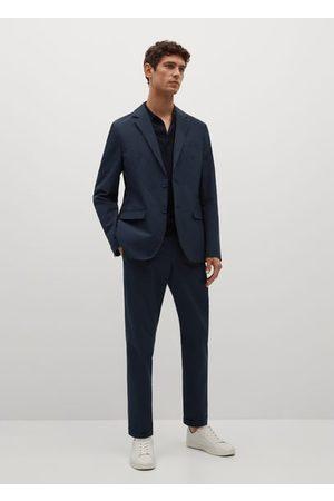 MANGO Men Skinny Pants - Slim-fit seersucker stretch pants