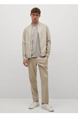 MANGO Men Skinny Pants - Slim-fit lyocell linen pants