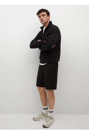 MANGO Elastic waist cotton Bermuda shorts