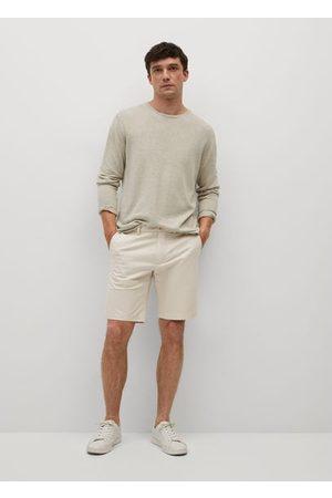MANGO Men Bermudas - Chino Bermuda shorts /pastel grey