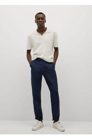 MANGO Slim-fit linen pants