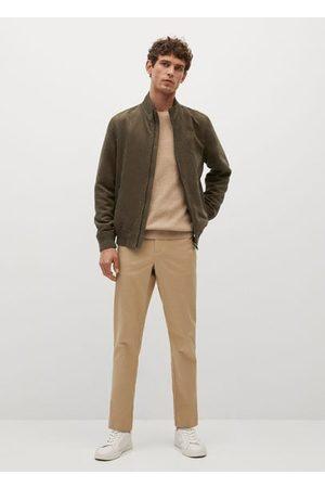 MANGO Suede-effect bomber jacket