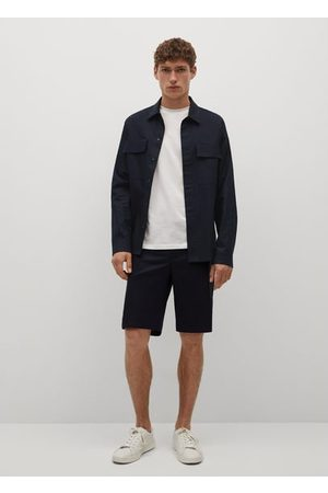 MANGO Lyocell linen overshirt with pockets