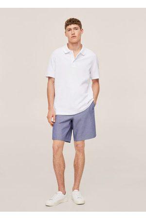 MANGO Relaxed cotton jersey polo shirt